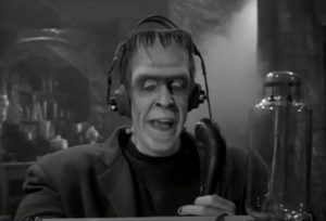 Herman Munster w Ham Radio