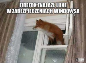 Firefox znalazł lukę w zabezpieczeniach Windowsa