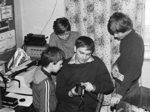 Sławek SP5ICS szkoli młodych