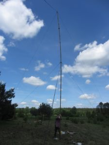 Mast for dipole 160/80/40m