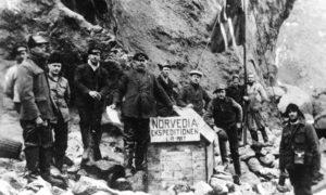 Norweska ekspedycja na wyspie Bouveta, 1 grudnia 1927 r. fot. Wikimedia Commons