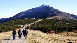 Sniezka, the highest peak of the Karkonosze Mountains, 1603 m a.s.l. - the symbol of the Karkonosze Mountains